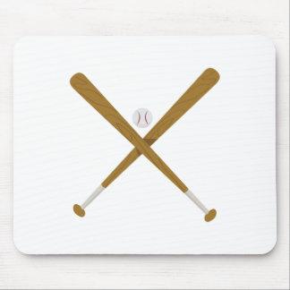 Crossed Bat & Ball Mouse Pad