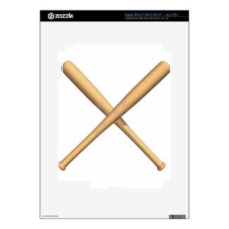 Crossed Bats Skin For iPad 3