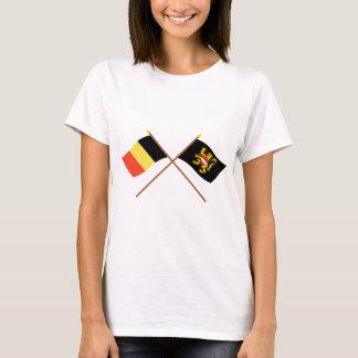 Crossed Belgium and Flemish Brabant Flags T-Shirt