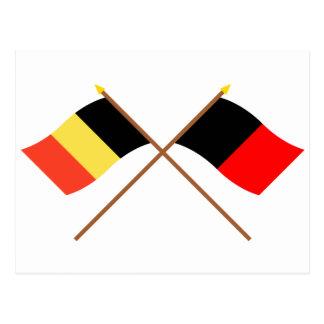 Crossed Belgium and Namur Flags Postcard