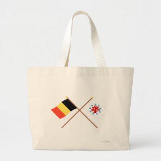 Crossed Belgium & German Speaking Community Flags Bags