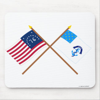 Crossed Bennington and 2nd Rhode Island Regiment F Mouse Pad