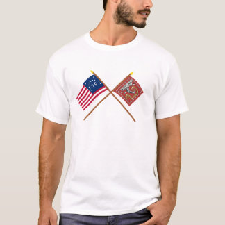 Crossed Bennington and Bedford Flags T-Shirt