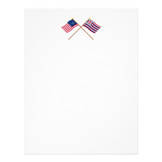 Crossed Bennington and Brigantine Lexington Flags Letterhead