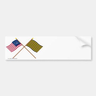 Crossed Bennington and Brigantine Reprisal Flags Bumper Sticker
