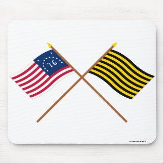 Crossed Bennington and Brigantine Reprisal Flags Mouse Pad