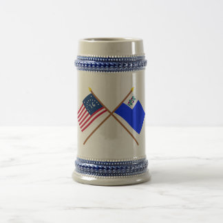 Crossed Bennington and Connecticut Privateer Flags Mug