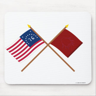 Crossed Bennington and Eutaw Flags Mouse Pad
