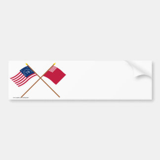 Crossed Bennington and Forster-Knight Flags Bumper Sticker
