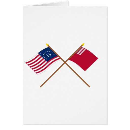 Crossed Bennington and Forster-Knight Flags Greeting Cards