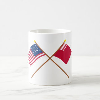 Crossed Bennington and Forster-Knight Flags Classic White Coffee Mug