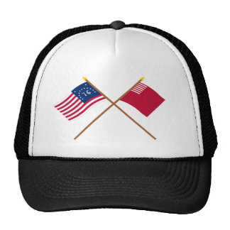 Crossed Bennington and Forster-Knight Flags Trucker Hat
