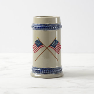 Crossed Bennington and French Alliance Flags Mugs