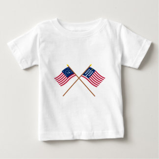 Crossed Bennington and French Alliance Flags Shirt