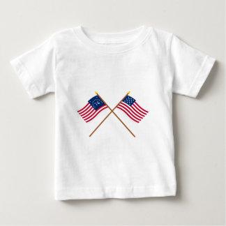 Crossed Bennington and Frigate Alliance Flags Tee Shirt