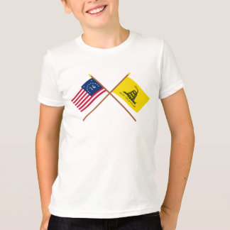 Crossed Bennington and Gadsden Flags T-Shirt