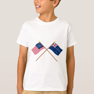 Crossed Bennington and George Rex Flags T-Shirt