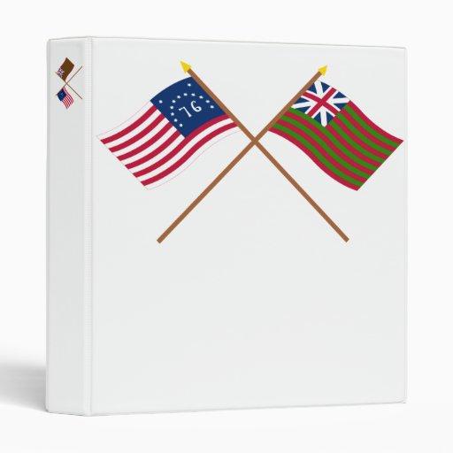Crossed Bennington and Grand Union Naval Flags Binder