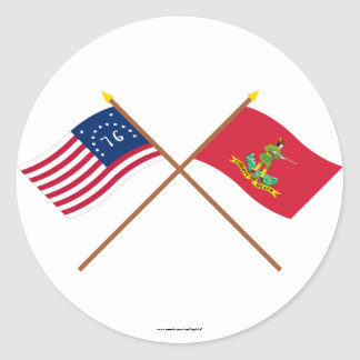 Crossed Bennington and Hanover Associators Flags Sticker
