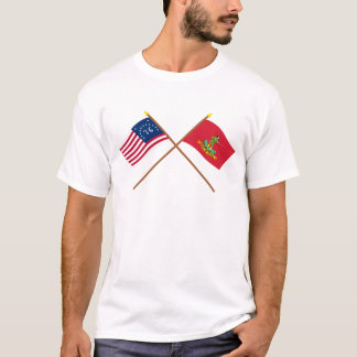 Crossed Bennington and Hanover Associators Flags T-Shirt