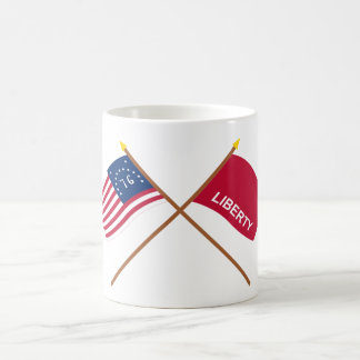 Crossed Bennington and Huntington Flags Coffee Mug