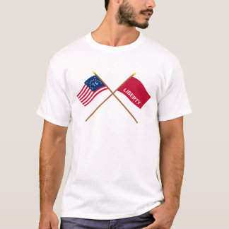 Crossed Bennington and Huntington Flags T-Shirt