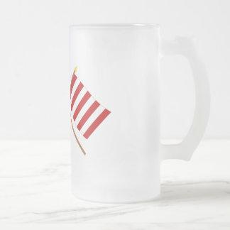 Crossed Bennington and Liberty Tree Flags Coffee Mug