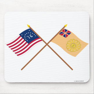 Crossed Bennington and New Hampshire 2nd Regiment Mouse Pad
