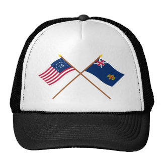Crossed Bennington and New Hampshire 2nd Regiment Trucker Hat