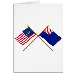 Crossed Bennington and Pennsylvania Navy Flags Card
