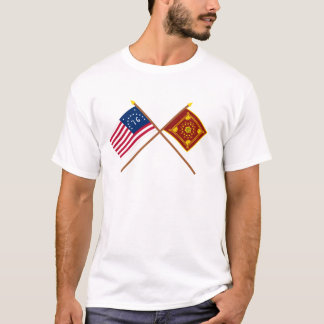 Crossed Bennington and Pulaski Flags T-Shirt