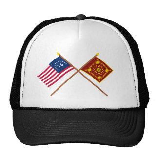 Crossed Bennington and Pulaski Flags Trucker Hat