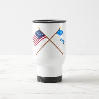 Crossed Bennington and Rhode Island 1st Regiment F Mug