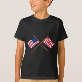 Crossed Bennington and Sheldon's Horse Flags T-Shirt