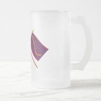 Crossed Bennington and South Carolina Navy Flags Coffee Mug