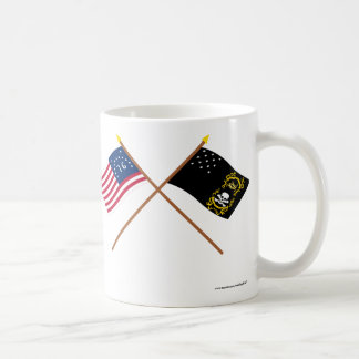 Crossed Bennington and Veterans Exempt Flags Classic White Coffee Mug