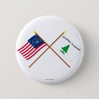 Crossed Bennington and Washington's Cruisers Flags Button
