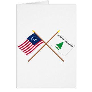 Crossed Bennington and Washington's Cruisers Flags Card