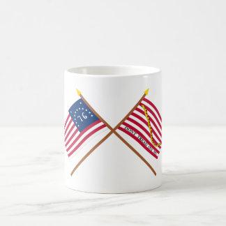 Crossed Bennington Flag and Navy Jack Mug