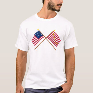 Crossed Bennington Flag and Navy Jack T-Shirt