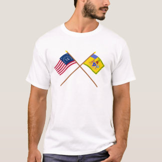 Crossed Bennington Flag & Phila Light Horse Colour T-Shirt
