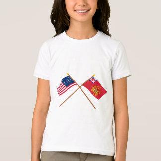 Crossed Bennington & Proctor's Batallion Flags T-Shirt