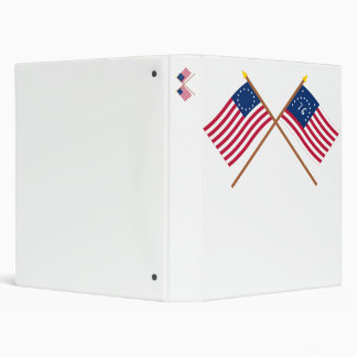 Crossed Betsy Ross and Bennington Flags Vinyl Binder