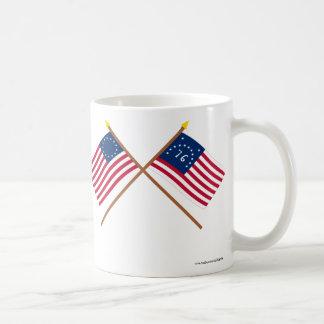 Crossed Betsy Ross and Bennington Flags Coffee Mug