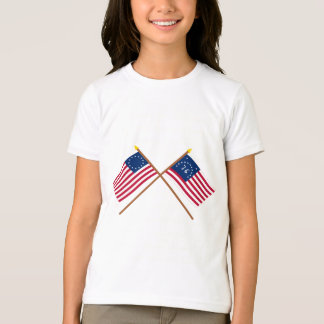 Crossed Betsy Ross and Bennington Flags T-Shirt