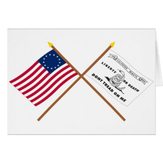 Crossed Betsy Ross and Culpeper Flags Greeting Card