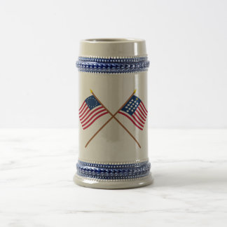 Crossed Betsy Ross and French Alliance Flags Mug