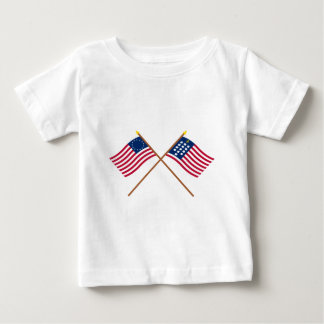 Crossed Betsy Ross and French Alliance Flags Tshirt
