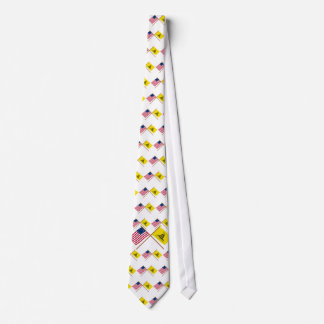 Crossed Betsy Ross and Gadsden Flags Tie