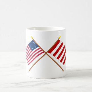 Crossed Betsy Ross and Liberty Tree Flags Mug